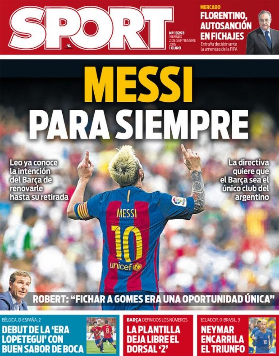 El presidente del Barsa quiere fichar a Messi para siempre. (Foto: Sport)