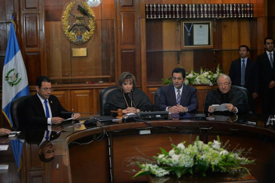 Los tres presidentes de los poderes del Estado se reunieron para la cita. (Foto: Wilder López/Soy502)
