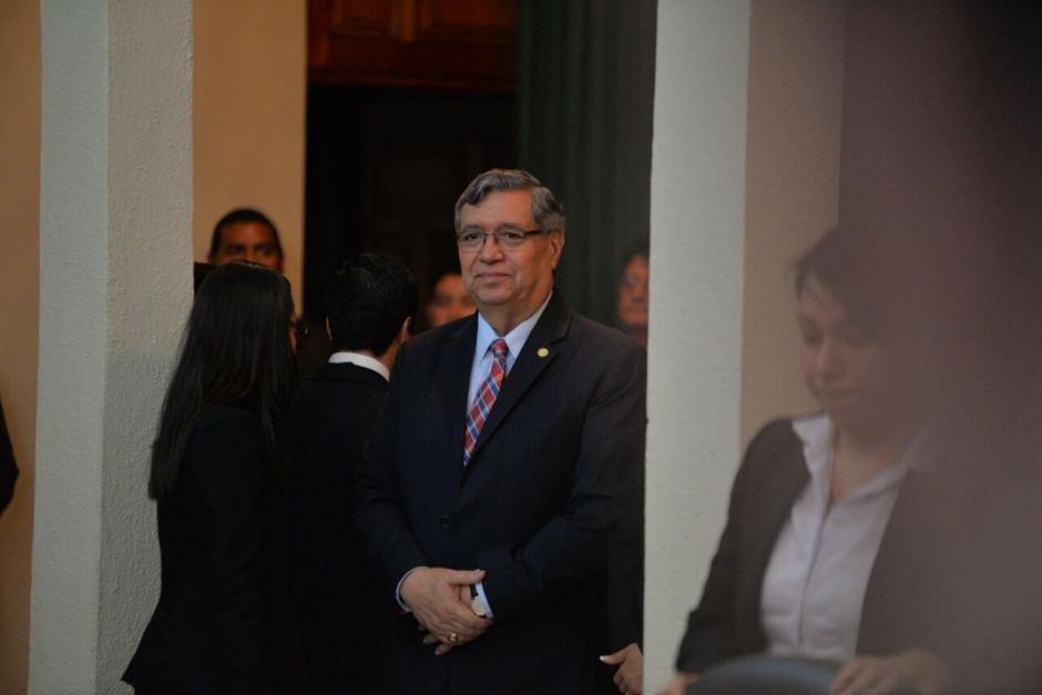 El vicepresidente Jafeth Cabrera también participó del protocolario evento. (Foto: Wilder López/Soy502)