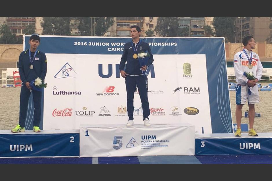 Tras los Juegos Olímpicos, Charles se consagró en Egipto. (Foto: Comité Olímpico Guatemalteco)