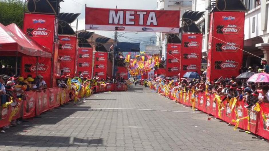 San Pedro, San Marcos, se caracteriza por sus coloridos y calurosos recibimientos a la Vuelta.(Foto: Nuestro Diario)