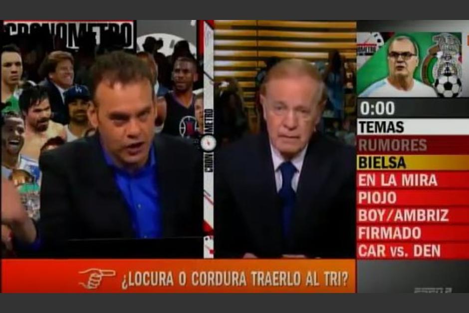 Faitelson y José Ramón se retal a los golpes foto