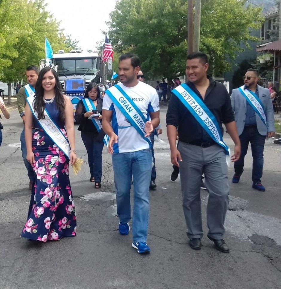 Carlos Ruiz recientemente contratado por Dallas FC. participó en el desfile. (Foto: Cortesía Gerson Miranda)