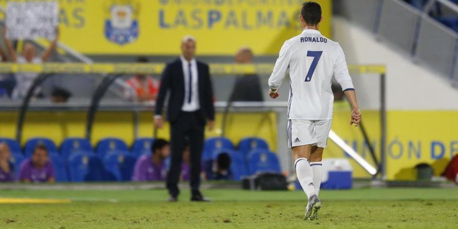 CR7 no luce tan cómodo estos días en el Real Madrid. (Foto: Twitter)