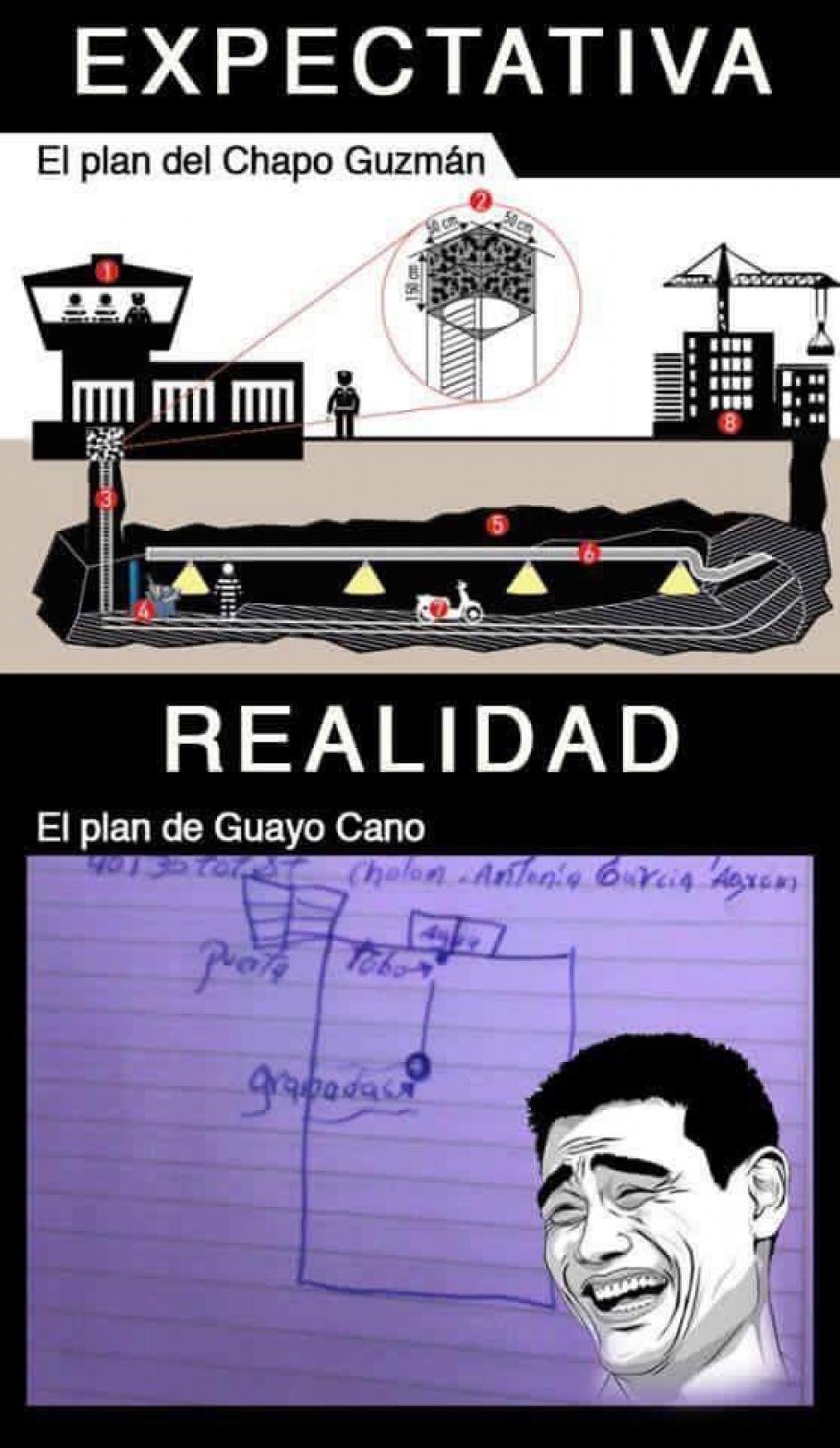 Algunos usuarios comparan el plan con el del narcotraficante mexicano conocido como el Chapo Guzmán. (Foto@EIGuatemalteco)