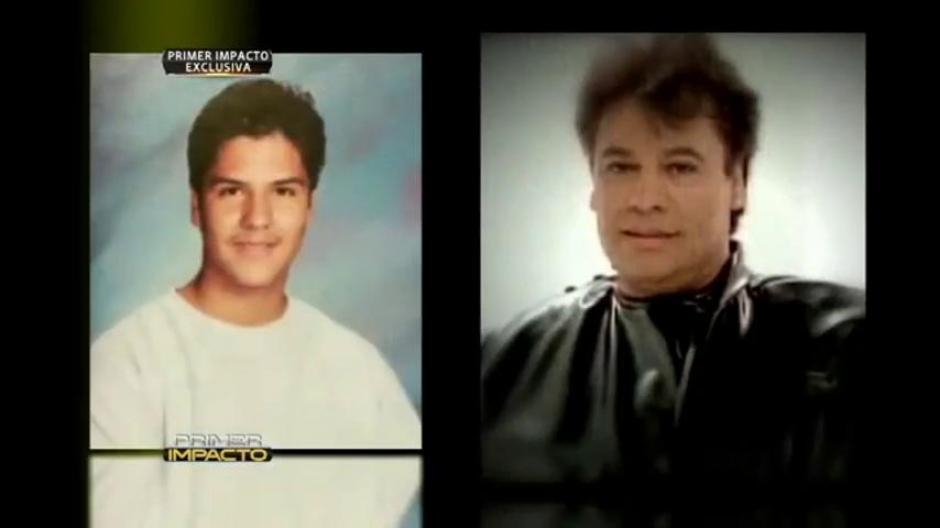 El parecido entre Luis Aguilera y su padre Juan Gabriel. (Foto: Primer Impacto)