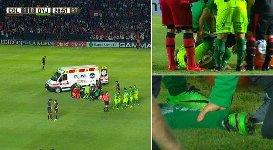 Una terrible lesión se dio en el fútbol argentino. (Foto: Twitter)