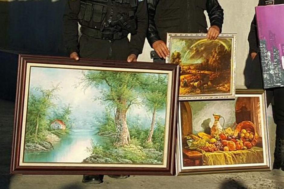 Una banda de saqueadores fue desarticulada y en sus viviendas se encontraron objetos de gran valor. (Foto: PNC)