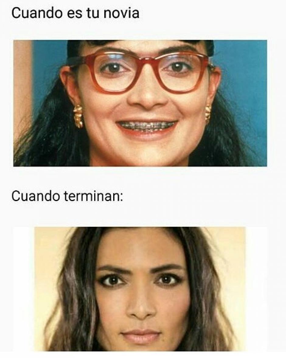 El antes y el después de Betty. (Foto: Twitter)