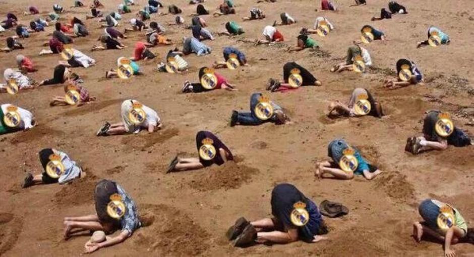 Los fans del Real Madrid. (Foto: Twitter/ @SoloFutbolMemes)