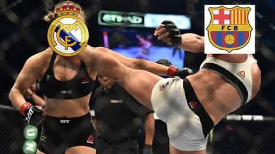 Así se vivió el encuentro entre el Real Madrid y el Barcelona. (Foto: Twitter/@Chava_lglesias)