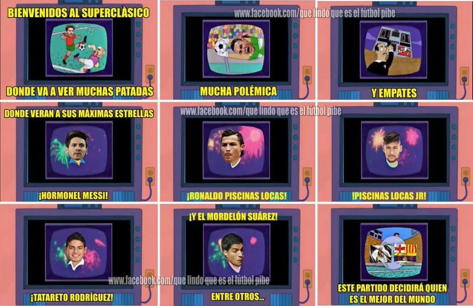 El clásico 231 entre el Real Madrid y el Barcelona. (Foto: twitter/@SoloFutbolMemes)