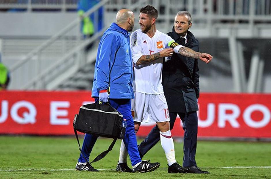 Sergio Ramos espera volver a Madrid donde será reevaluado por los médicos. (Foto: Twitter)