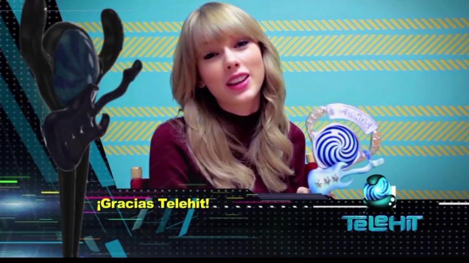 Taylor Swift agradeció todo el cariño de sus fanáticos mexicanos. (Foto: Premios Telehit)