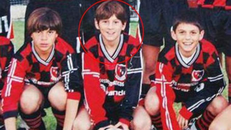Messi golazo a las ocho años foto