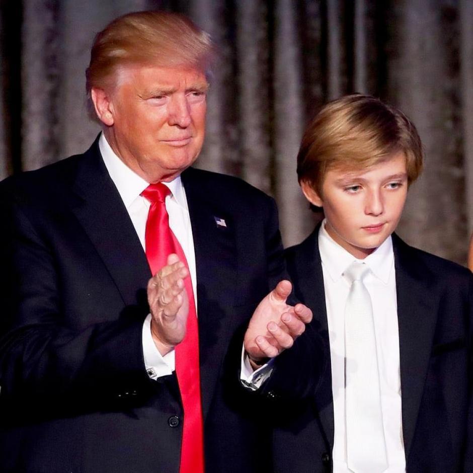 Barron tiene 10 años y es el hijo mas pequeño de Trump. (Foto: Twitter)
