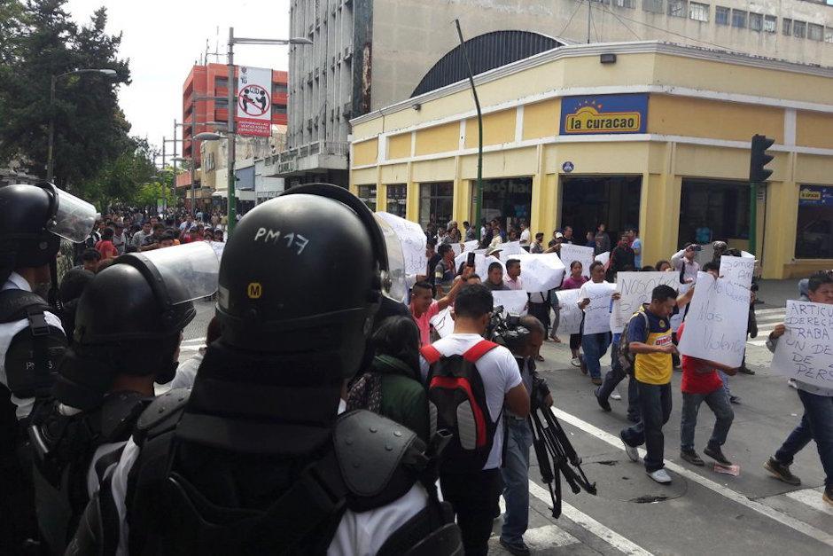 La manifestación esta vez fue pacífica. (Foto: Javier Lainfiesta/Soy502)