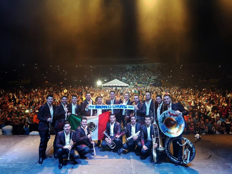 La noche del viernes la banda MS se presentó en Honduras. (Foto: BandaMS)