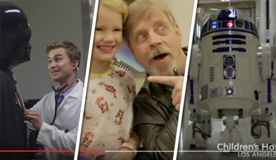 Personajes de Star Wars visitaron el hospital de niños de Los Ángeles. (foto:Hospital Pediátrico de Los Ángeles)