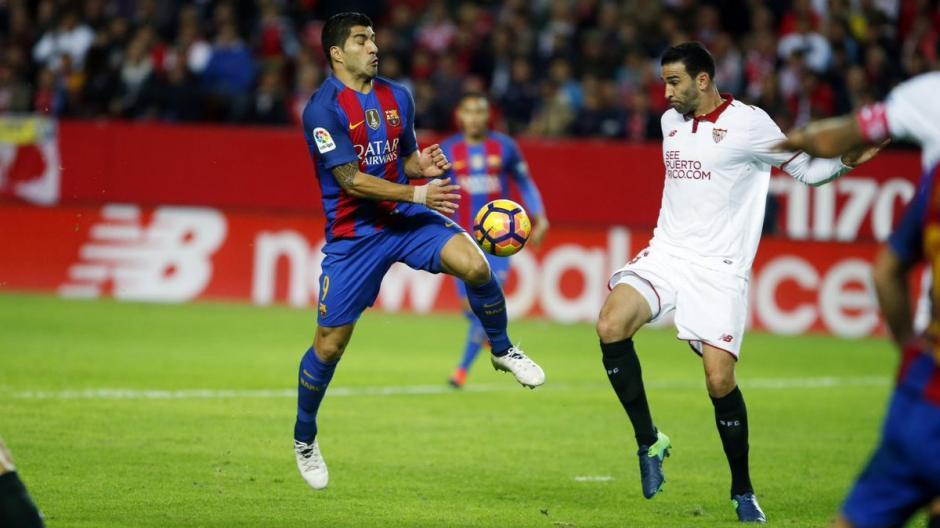 Luis Suárez fue todo corazón en el duelo contra el Sevilla. (Foto: FC Barcelona)