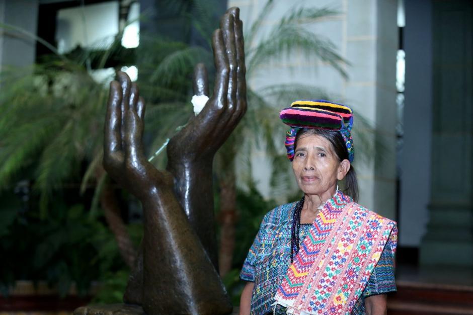 Nicolasa Cuxún es una fondista de la tercera edad. (Foto: Presidencia)