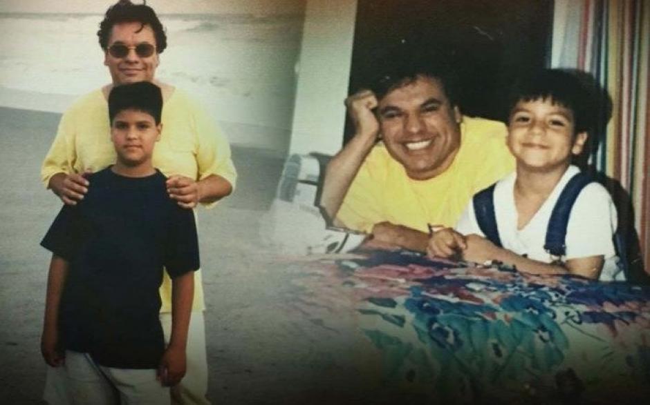 Luis Alberto Aguilara junto a su padre Juan Gabriel. (Foto: Twitter)