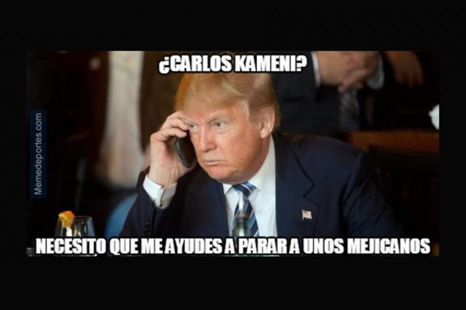 Donald Trump quiere a Kameni en su equipo contra los mexicanos. (Foto: Twitter)