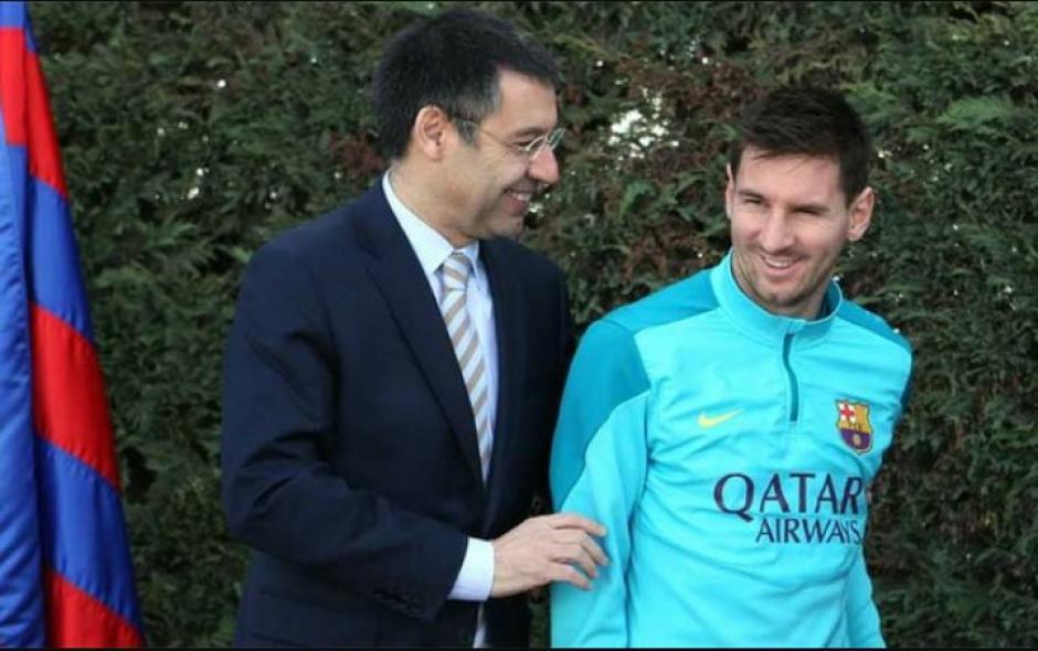 Batormeu, presidente del Barça y Messi estarían distanciados y eso preocupa a los culés. (Foto: Twitter)