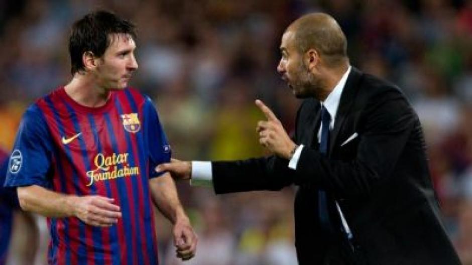 Messi tiene una buena relación con Pep Guardiola quien puede influir para llevarlo al Manchester City. (Foto: Twitter)