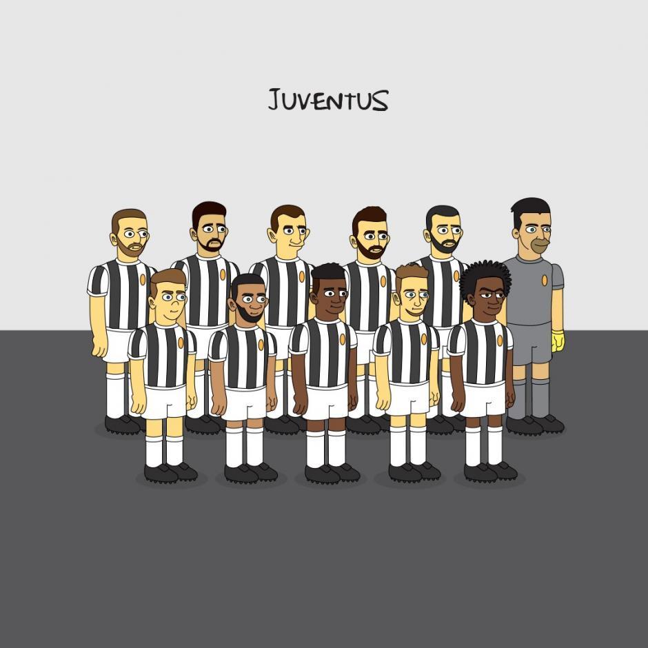 Los jugadores de la Juventus al estilo de Los Simpson. (Imagen: Emilio Sansolini)