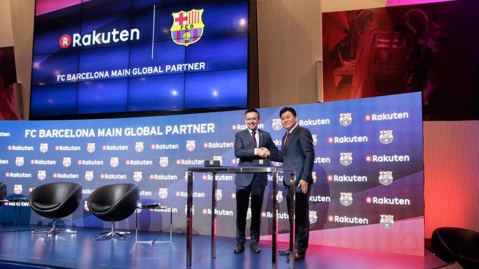 El FC Barcelona firmó con la japonesa Rakuten, un millonario contrato de patrocinio. (Foto: Twitter)