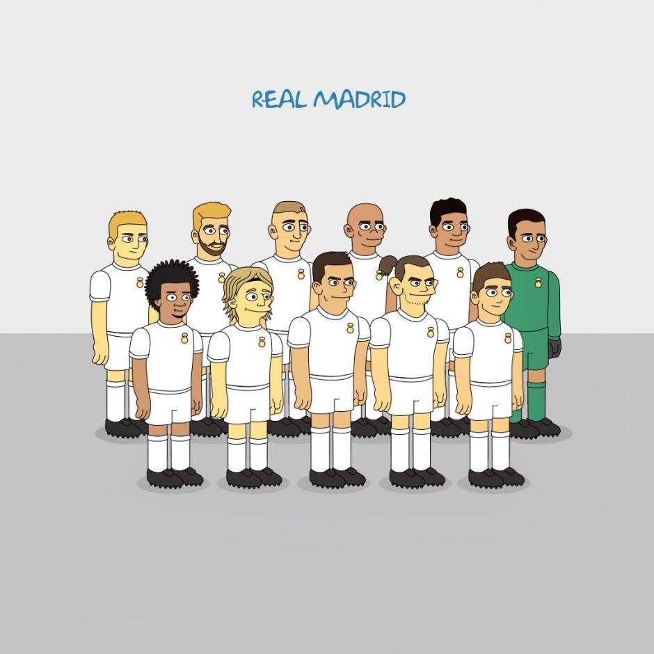 Gareth Bale y la plantilla del Real Madrid no faltaron en las ilustraciones de Emilio Sansolini. (Imagen: Emilio Sansolini)
