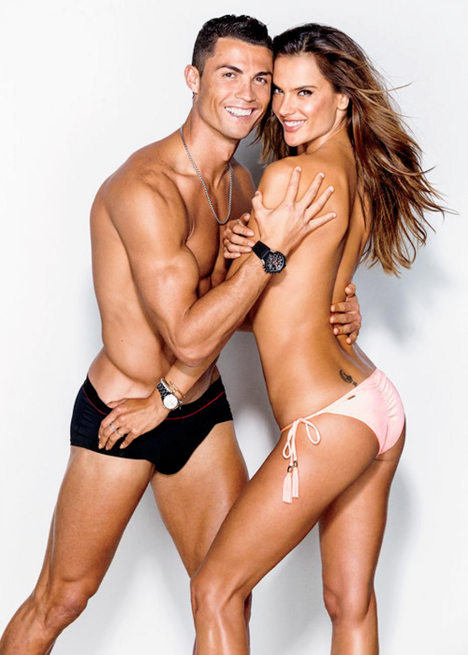 Cristiano Ronaldo y Alessandra Ambrosio sacaron chispas en la sesión de fotos en la que participaron para una revista. (Foto: GQ)