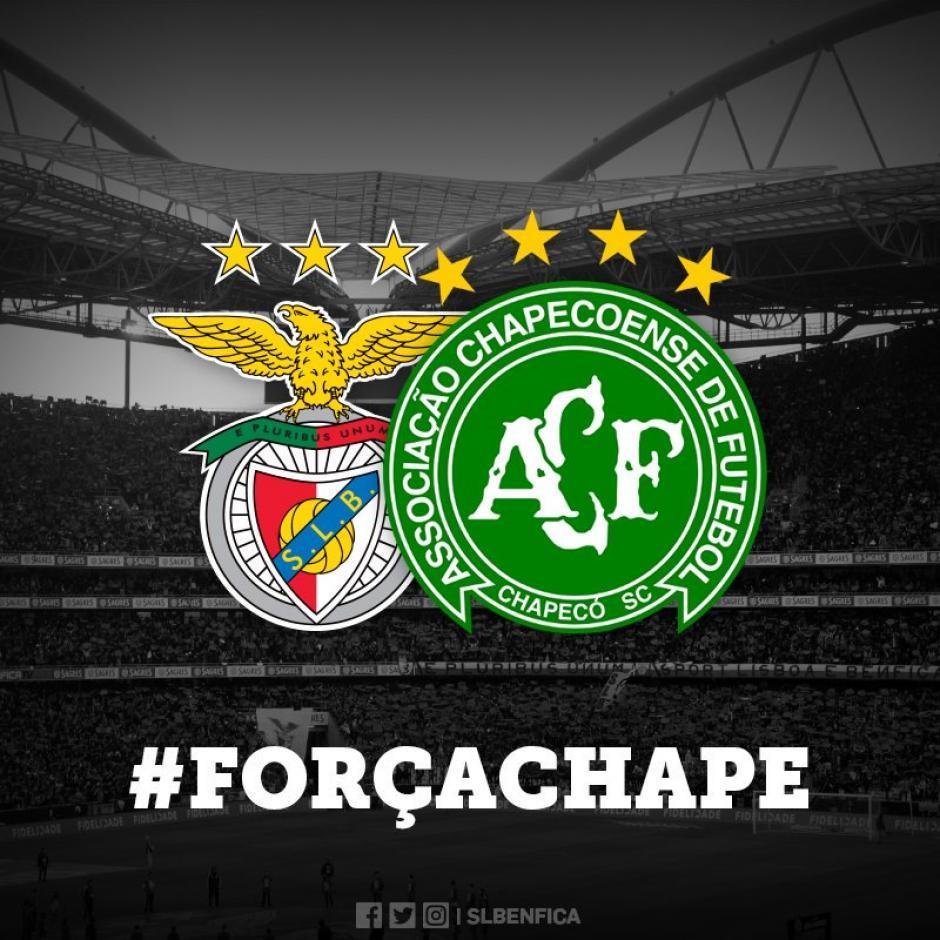 El Benfica portugués fue uno de los primeros en ofrecer su apoyo al club brasileño. (Foto: Twitter)