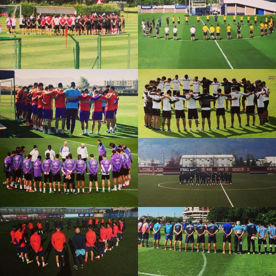 Clubes de todo el mundo se unieron en oración por las víctimas y sus familias. (Foto: Twitter)