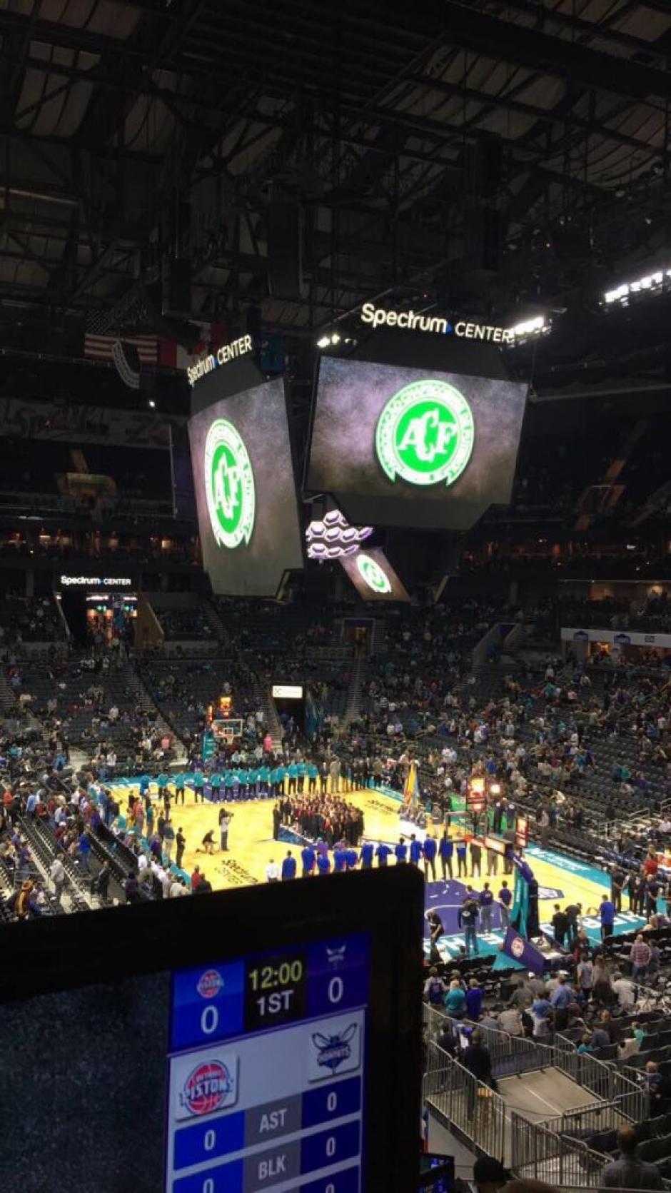 La NBA también rindió homenaje y apoyo a Chapecoense. (Foto: Twitter)