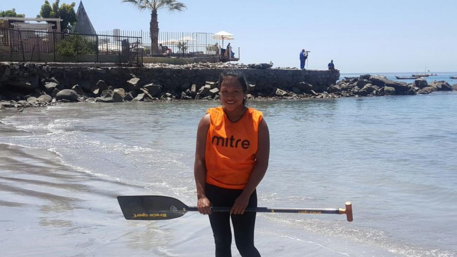 Clara López ganó el primer oro para Guatemala en los Bolivarianos de Playa 2016. (Foto: COG)