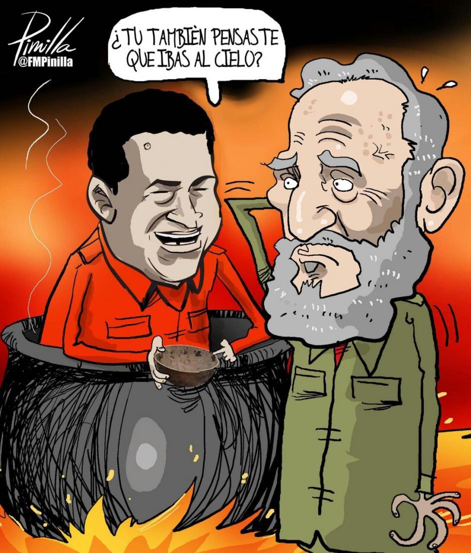 Las burlas del reencuentro entre Hugo y Fidel abundaron en diversos aspectos. (Foto: Twitter)