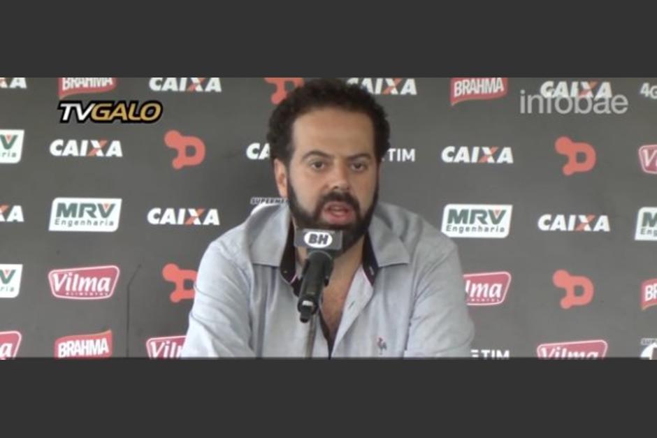 Daniel Nepomucen, presidente de Atlético Mineiro aseguró que su equipo no asistirá al partido contra Chapecoense. (Foto: Captura de video)