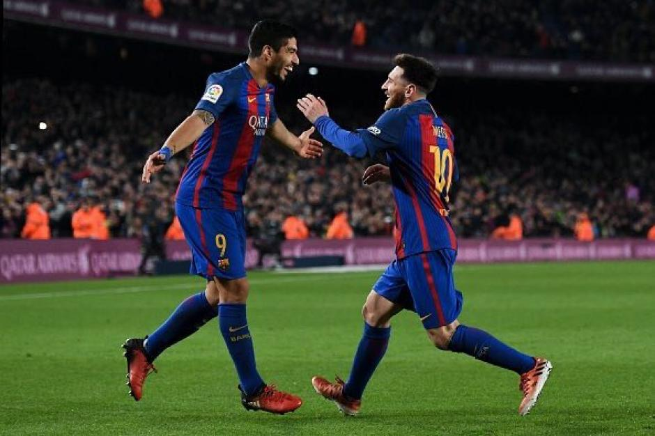 Messi asistió a Luis Suárez en una gran jugada de pared. (Foto: AFP)