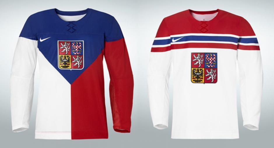 Éstas son las camisolas para la delegación de Hockey de la República Checa. El diseño y la marca son de Nike. Foto Nike