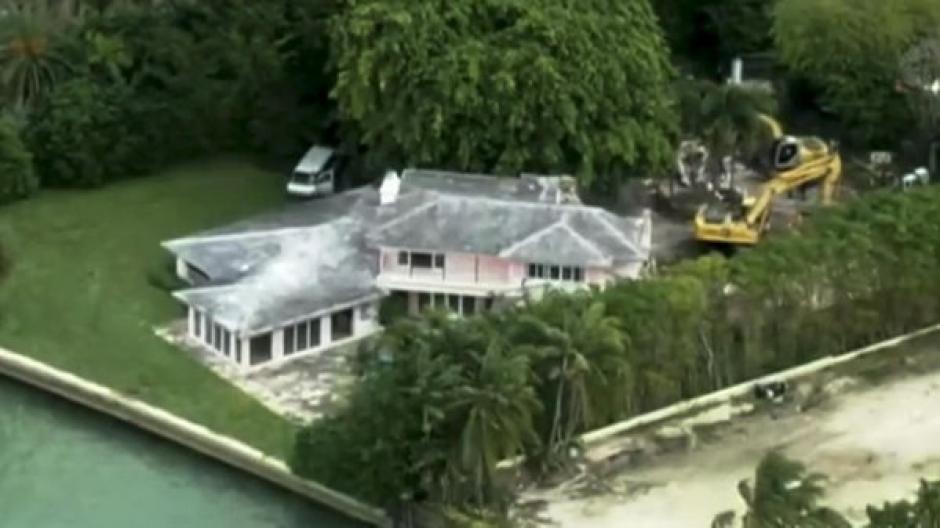 Panorámica de la casa de Pablo Escobar en Miami. (Foto: Telemundo)