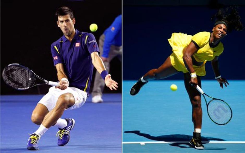 Novak Djokovic y Serena Williams foto