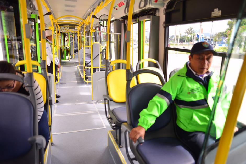 Las nuevas unidades tienen capacidad para 270 pasajeros. (Foto: Jesús Alfonso/Soy502)