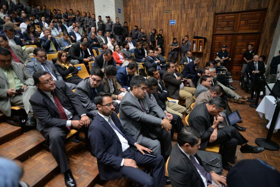 En total son 15 de los 57 sindicados, los imputados por el delito de financiamiento electoral ilícito. (Foto: Wilder López/Soy502)