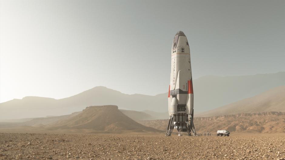 """""""Dedalous"""" es la nave que lleva a la humanidad a Marte. (Foto: Fox)"""