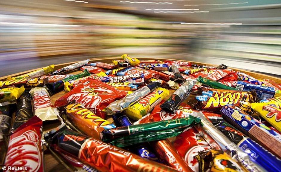 Los dulces y chocolates también entran en esta lista. (Foto: dailymail.co.uk)