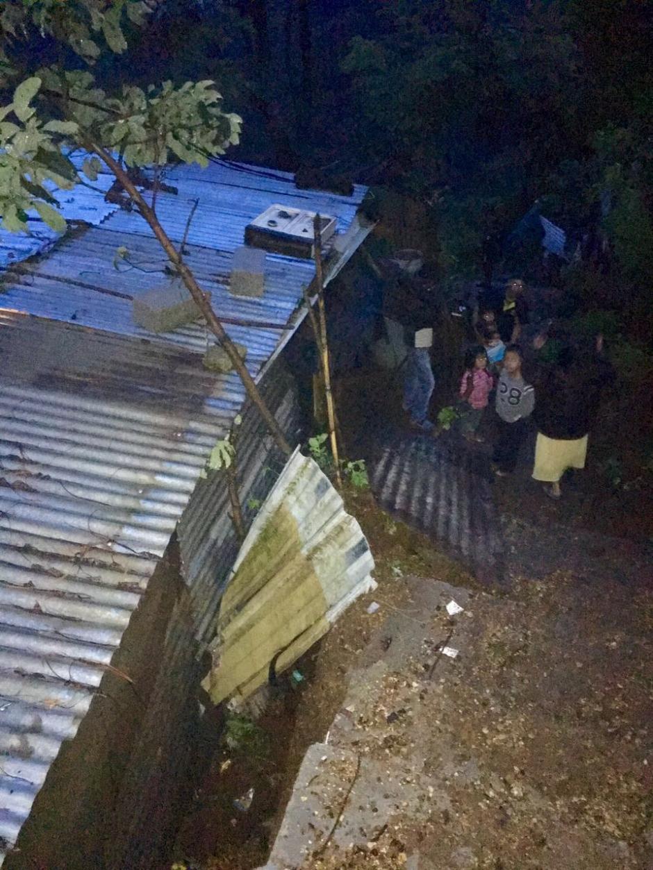Una de las viviendas se destruyó en su totalidad. (Foto: Municipalidad de Mixco)