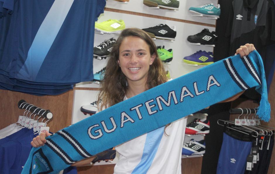 Orgullosa de ser guatemalteca, Andrade, buscará triunfar en Chile. (Foto: Luis Barrios/Soy502)