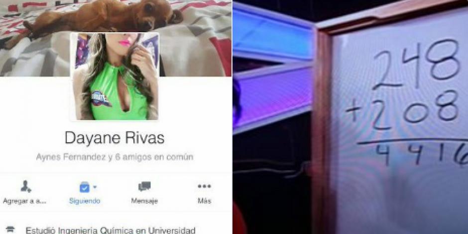 En el perfil de Dayane Rivas aparece que es estudiante de la Universidad Mariano Gálvez. (Foto: Twitter)